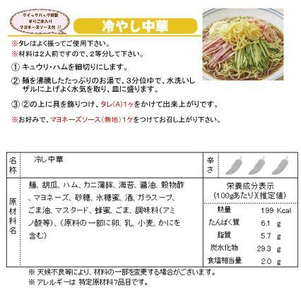 冷やし中華・レシピ